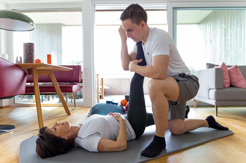 Streteching mit Personal Trainer